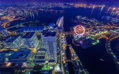Japan Tokyo cityscapes Yokohama city lights wallpaper   1920x1200   229254   WallpaperUP