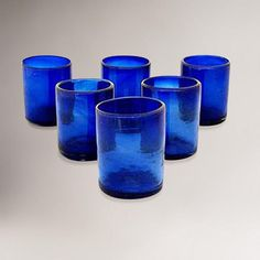 One of my favorite discoveries at WorldMarket.com: Novica Cobalt Dreams Tumblers, Set of 6 $39.99