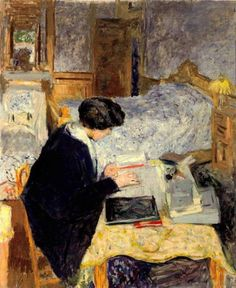 """""""Lucy Hessel Reading"""", 1913, by Édouard Vuillard (French, 1868-1940)"""
