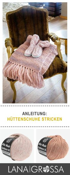 Kostenlose #Strickanleitung: gemütliche Hüttenschuhe stricken / #freepattern for cozy slippers via lanagrossa.de