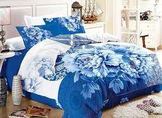 Beddinginn; Blue and White Porcelain Print Cotton Duvet Cover Sets: http://www.beddinginn.com/product/Blue-And-White-Porcelain-Print-4-Piece-Cotton-Duvet-Cover-Sets-11354618.html; Check here: http://www.beddinginn.com/Custom-3d-Bedding-101840/Newest/