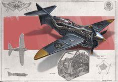 ArtStation - Redesign: Crimson Skies (SkyScreamer medium fighter), Martynas Latusinskas