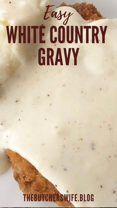 Notes Homemade Gravy Recipe, Homemade Sausage Gravy, White Country Gravy Recipe, Summer Sausage Recipes, Best Biscuits And Gravy, Creamy Dill Sauce, Breaded Pork Chops, Rhubarb Recipes, How To Cook Sausage