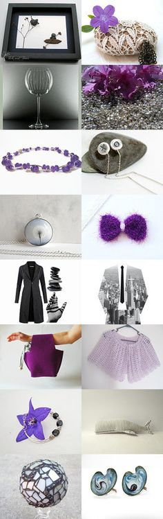 Grey and purple by Ana Martín on Etsy--Pinned with TreasuryPin.com