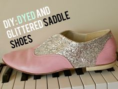 Glittered shoes! :)