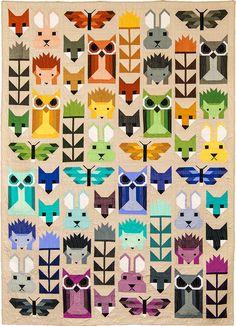 Fancy Forest Quilt Along at Fabric Depot.  Design by Elizabeth Hartman.
