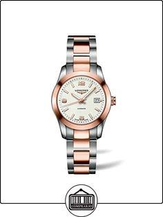 Automático longiness Conquest Classic 18 K dorado y diseño de acero inoxidable reloj de exposiciones de mujer  ✿ Relojes para mujer - (Lujo) ✿