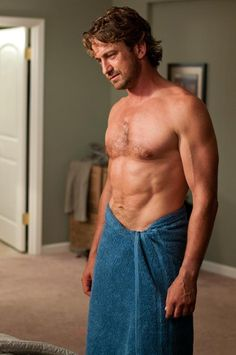 HERE IS A PICTURE OF GERARD BUTLER SHIRTLESS AND IN A TOWEL. GOOD LUCK GETTING THROUGH THE REST OF YOUR DAY lol