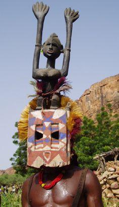 DOGON - (#Canto_Que_Dança) com o Povo Dogon - Mali - África. / Dogon Mask.