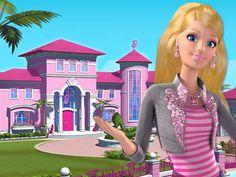 """A animação """"Barbie Life In Dreamhouse"""", é semanal e já possui 2 episódios, com direito à dublagem perfeita em português. As histórias com pegada de reality show se passam na mansão da Barbie em Malibu, com participação do Ken, das melhores amigas, das irmãs e dos pets da boneca."""