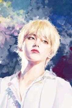 Tae Oppa fan art just stole my heart from my Chest. Bts Taehyung, Taehyung Fanart, Kpop Fanart, K Pop, Vmin, Fanarts Anime, Bts Drawings, Fan Art, Bts Chibi