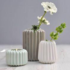 ori folded ceramic vases by henry's future | notonthehighstreet.com