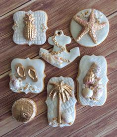 Lorena Rodriguez. Beach wedding cookies.