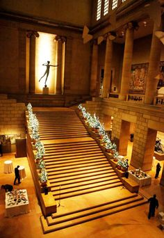 Simply illuminating: Philadelphia Museum of Art Tree Lighting, November 10 a., in the museum's Great Stair Hall. (Photo courtesy Philadelphia Museum of Art) wonderful times favorite was school district awards banquet. Historic Philadelphia, Philadelphia Museum Of Art, Philadelphia Attractions, Places To Travel, Places To Go, Eastern State Penitentiary, Museum Studies, Neoclassical Architecture, Louvre