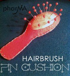 Hairbrush pincushion
