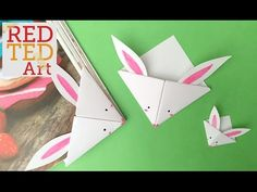 Easy Paper Bunny Bookmark Corner (BONUS VIDEO) - YouTube
