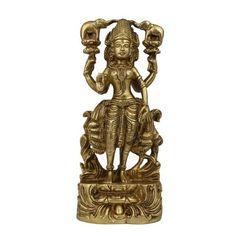 Amazon.com: Goddess Lakshmi Statue Sculpture Hindu Art Religious Idol Figurine; Brass; 3.5 X 1.75 X 8 Inches: Home & Kitchen