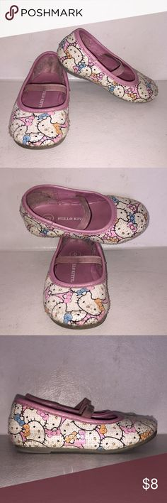 Pink Hello Kitty Sequin Flats size 6 Used but still in good condition. You know your little girl would love to wear these for spring with a cute little dress Hello Kitty Shoes