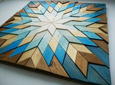 Wood wall art Geometric art Rustic wall decor Reclaimed