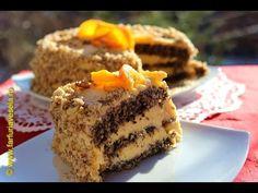 Tort cu blat de albusuri si crema fina de portocale | Farfuria vesela - YouTube