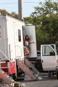 Selena Gomez Photos: Selena Gomez Leaving A Trailer On Set