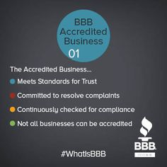 At the heart of one of BBB's core services are Accredited Businesses, but what does it MEAN to be an Accredited Business? Why should you make the decision to use an Accredited Business when making a purchasing decision?