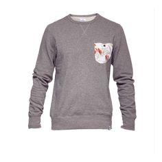 'Slub'-quality cotton sweatahirt