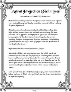 Astral Projection Cont.  Page 4 of 4   http://www.psychicreadinglounge.com