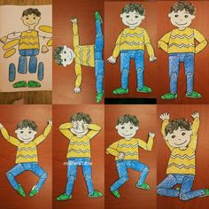 Moving paper doll