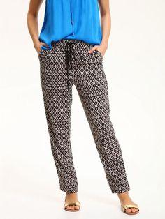 Top Secret Kalhoty dámské se vzvorem Top Secret, Parachute Pants, Pajama Pants, Pajamas, Lingerie, Sewing, How To Wear, Dresses, Fashion