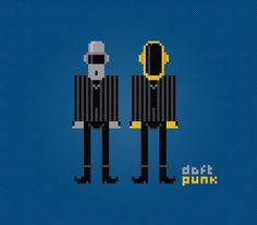 (10) Name: 'Embroidery : Daft Punk PDF Cross Stitch Chart