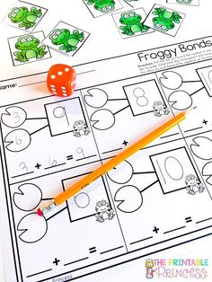 Spring Activities for Kindergarten Kindergarten Addition Worksheets, Kindergarten Centers, Kindergarten Lessons, Kindergarten Classroom, Math Centers, Fun Math, Math Class, Maths, Subtraction Activities