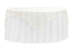 """72"""" Square Quaker Lace Table Overlay Topper - Ivory ● $10.99 ● Available from www.cvlinens.com"""