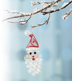 Quilled Santa Ornament by all things paper