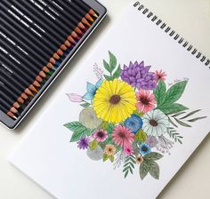 "68 tykkäystä, 3 kommenttia - Sini. E (@sinisdrawings) Instagramissa: "". Floral drawing 🌸🌻🌹 . . . . #drawing #skech #doodle #floral #floraldrawing #derwent…"""