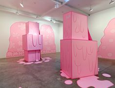 """Lily van der Stokker - """"Huh 1"""" (foreground) and """"Huh 2"""""""