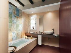 carrelage-salle-bain-beige-clair-bordeaux-mosaique-baignoire