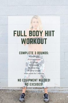 HIIT workout that can be completed at home with no equipment!