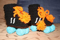 crochet skates in different styles with pattern