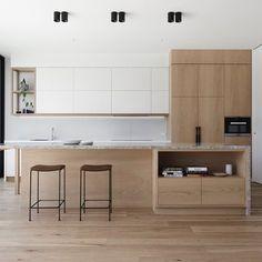 How to put your kitchen credenza? Interior Design Awards, Interior Design Kitchen, Interior Office, Modern Interior, New Kitchen, Kitchen Decor, Kitchen Plants, Contemporary Kitchen Design, Scandinavian Kitchen