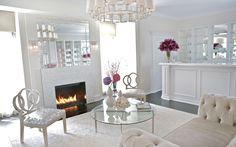 Adam Hunter + Kate Somerville + White Room + Spa + Tufted Settee + White Mosaic