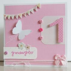 13 Best Handmade 1st Birthday Cards Uk Images In 2015
