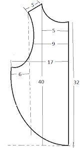 Resultado de imagen para medidas para hacer un babero
