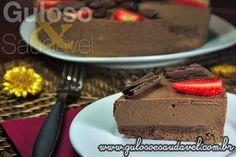 Torta Mousse de Chocolate » Receitas Saudáveis, Tortas e Bolos » Guloso e Saudável