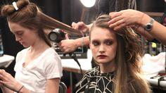 Behind the scenes with #TRESemme at Designer #CynthiaSteffe Fall 2011 Show - Mercedes Benz Fashion Week #hair #models #runway #NewYorkFashionWeek #beauty #hairstyling