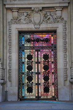 Door of the Grand Palais-Paris France