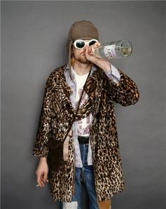 kurt cobain leopard 90s rock & Everyone has a dream guy mine is a white scrawny sensitive artistic ...