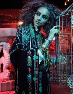 Malika Firth For Vogue Japan: The Fiesta of Solitude Editorial