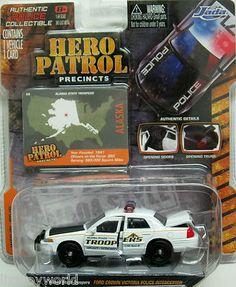 Hero Patrol Precinct ALASKA STATE TROOPERS Ford Crown Victoria 1:64 sc JADA 2012