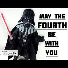 Star wars day #maythe4thbewithyou #amigurumi #darthvader #starwars